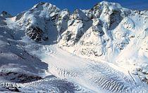 Morteratsch Bernina Glacier from Switzerland