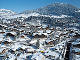 top view of the Gstaad valley