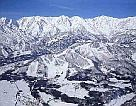 one of the views of the Hakuba valley in skiing Japan