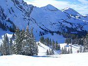 Mountain Pic with white powder