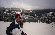 Aggie overlooking the Whistler Mountain