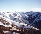 winter picture of Mt Hotham valley in Australia