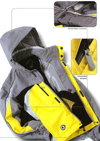 various winter jacket features